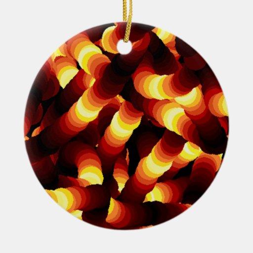 Arte abstracto del gusano de resplandor adorno redondo de cerámica