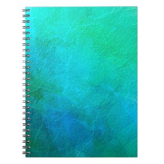 Arte abstracto del hielo azulverde del Aquamarine Libreta