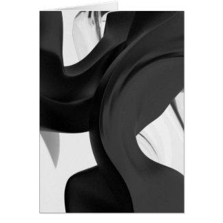 Arte abstracto del humo líquido de QionLab Tarjeta De Felicitación