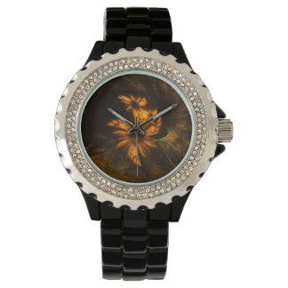 Arte abstracto del jardín de la mística relojes de pulsera