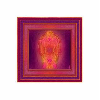 Arte abstracto del lugar sagrado interno chapa fotoescultura
