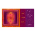 Arte abstracto del lugar sagrado interno plantilla de tarjeta personal