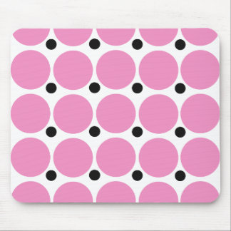 Arte abstracto del lunar rosado retro tapete de raton
