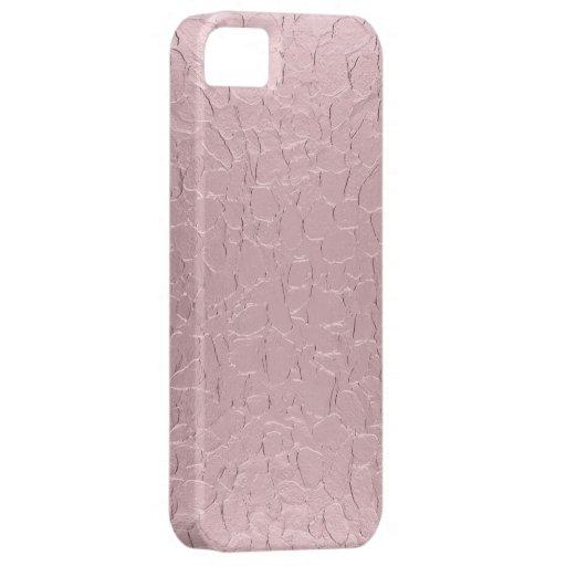 Arte abstracto del metal rosa claro funda para iPhone SE/5/5s