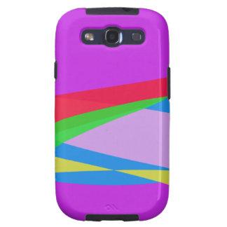 Arte abstracto del Minimalism púrpura rosado Samsung Galaxy S3 Fundas