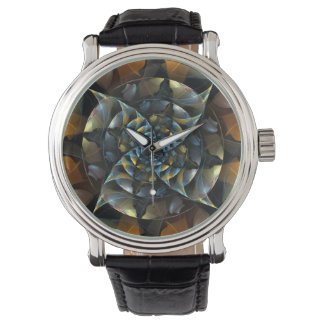 Arte abstracto del molinillo de viento relojes