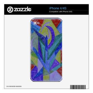 Arte abstracto del mosaico enrrollado iPhone 4S skins