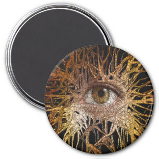 Arte abstracto del ojo imán redondo 7 cm