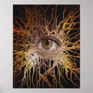 Arte abstracto del ojo póster