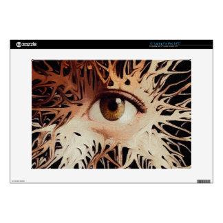 Arte abstracto del ojo skins para 38,1cm portátil