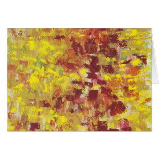 Arte abstracto del otoño felicitaciones