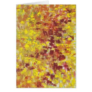 Arte abstracto del otoño tarjeta