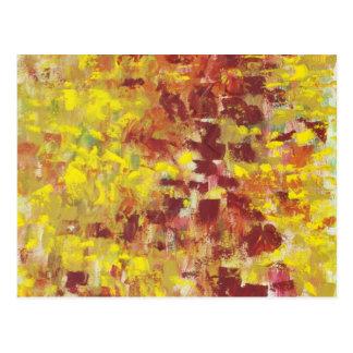 Arte abstracto del otoño tarjetas postales