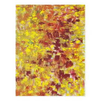 Arte abstracto del otoño postal