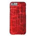 Arte abstracto del poder rojo estupendo de Saiyan Funda De iPhone 6 Barely There