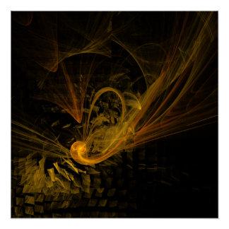 Arte abstracto del punto de desempate perfect poster