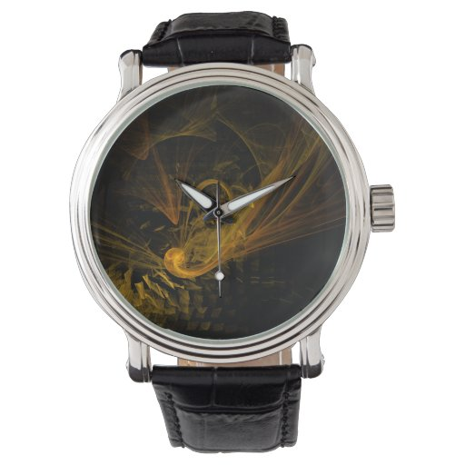 Arte abstracto del punto de desempate reloj de mano