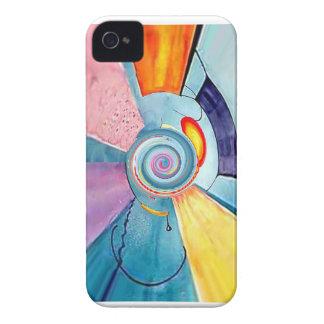 Arte abstracto del rasgón negro iPhone 4 carcasas