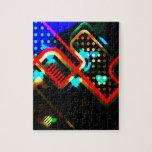 Arte abstracto del relámpago rompecabeza