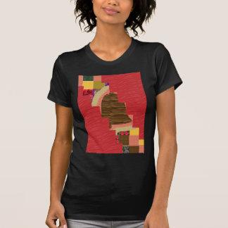 Arte ABSTRACTO del REMIENDO al azar del color en B Camisetas