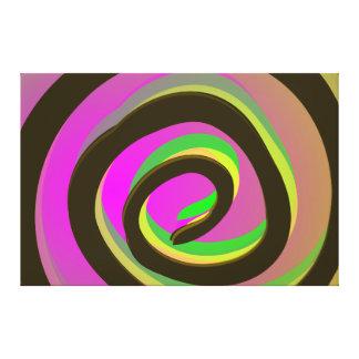 Arte abstracto del remolino brillante del embudo e