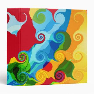 "Arte abstracto del remolino colorido retro carpeta 1 1/2"""