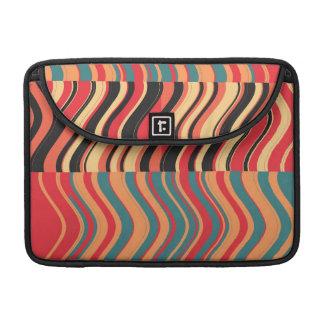 Arte abstracto del remolino colorido retro de las funda macbook pro