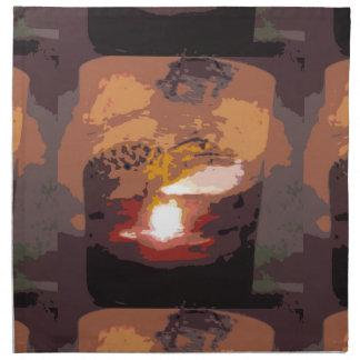 Arte abstracto del reptil del cocodrilo servilletas de papel