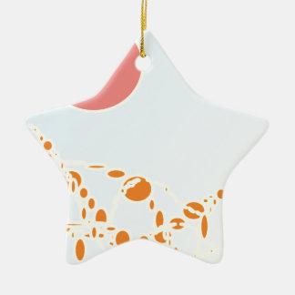 arte abstracto del rosa y del naranja 1276 adorno de cerámica en forma de estrella