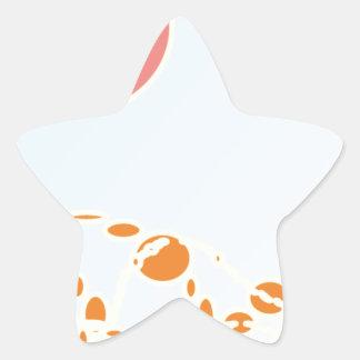 arte abstracto del rosa y del naranja 1276 pegatina en forma de estrella