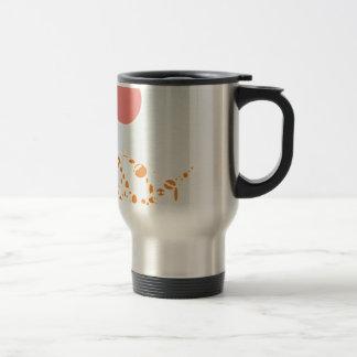 arte abstracto del rosa y del naranja 1276 taza de viaje de acero inoxidable