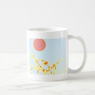 arte abstracto del rosa y del naranja 1276 taza básica blanca