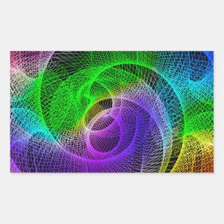 Arte abstracto del Spirograph Pegatina Rectangular