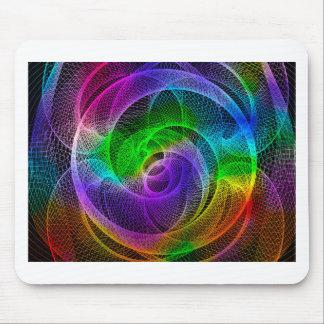 Arte abstracto del Spirograph Alfombrillas De Raton