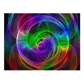 Arte abstracto del Spirograph Tarjeta Postal