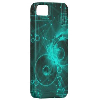 arte abstracto del techno digital iPhone 5 carcasa