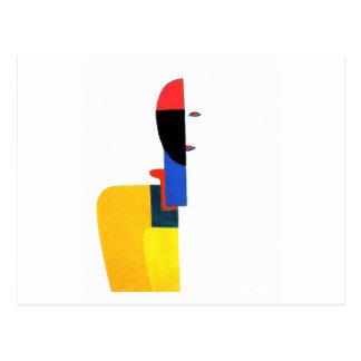 Arte abstracto del torso de la mujer postales