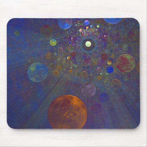 Arte abstracto del universo alterno alfombrillas de ratón