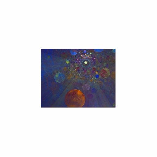 Arte abstracto del universo alterno esculturas fotográficas