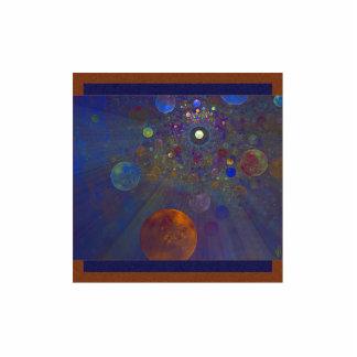 Arte abstracto del universo alterno adorno fotoescultura