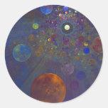 Arte abstracto del universo alterno pegatina redonda
