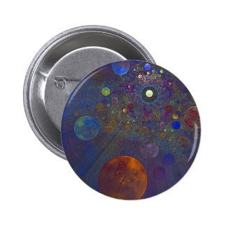 Arte abstracto del universo alterno pin redondo de 2 pulgadas