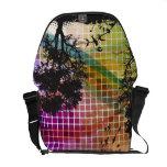 Arte abstracto del vector de la silueta del árbol bolsas de mensajeria