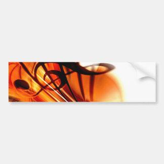 Arte abstracto del violín pegatina de parachoque
