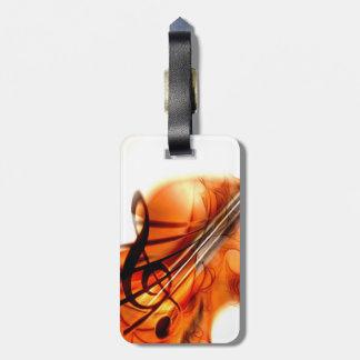 Arte abstracto del violín etiquetas de equipaje