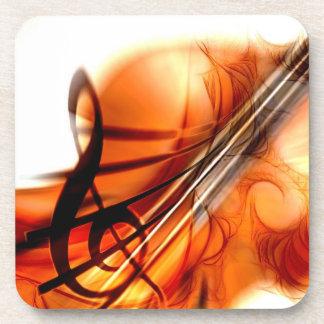 Arte abstracto del violín posavasos de bebida