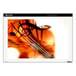 Arte abstracto del violín skins para 43,2cm portátil