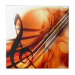 Arte abstracto del violín teja  ceramica