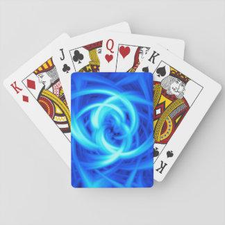 Arte abstracto del vórtice azul baraja de cartas