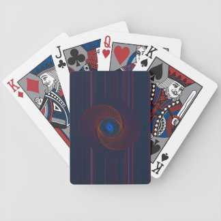 Arte abstracto del vórtice del fractal baraja cartas de poker